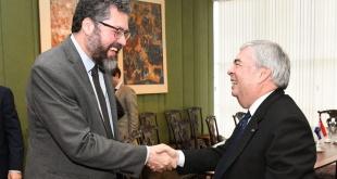 El escrito fue entregado esta tarde por el Ministro Sustituto, Embajador Bernardino Hugo Saguier Caballero. Foto: MRE.