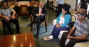 Los padres de Edelio Morínigo, secuestrado por el EPP, se reunieron con el ministro Juan Ernesto Villamayor.