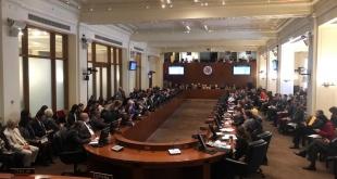 La votación tuvo lugar en Washington poco después de que Maduro jurara un segundo mandato de seis años (2019-2025). Foto: @OEA_oficial.