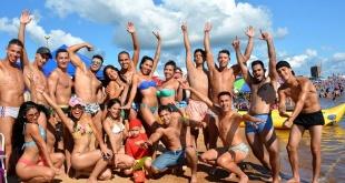 Los veraneantes se vuelcan a la diversión y la dispersión en las playas encarnacenas (Foto: Playa San José).