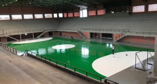 La construcción del polideportivo es costeada por la Gobernación y la Municipalidad.