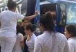 El camión distribuidor de cervezas en que una mujer dio  a luz en la mañana del dominado en Coronel Oviedo.