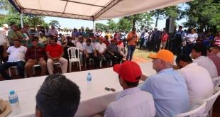 Acto realizado en el asentamiento Suizo Cué, distrito de Maracaná.