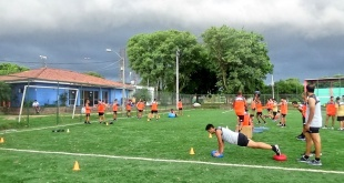 Deportivo Santaní intensifica la pretemporada a la espera del inicio de la Apertura y el debut en la Copa Sudamericana. (Foto Prensa Santaní)
