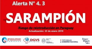 Casos de Sarampión se registran en 12 países de la región de las Américas.