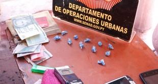 La droga alcanzó un peso de 6 gramos. Foto: Senad.