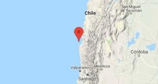 El sismo tuvo su epicentro a 16 kilómetros de la ciudad de Tongoy, en la región de Coquimbo, y tuvo una profundidad de 51 kilómetros.