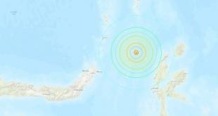 La profundidad del sismo ha sido de 60,6 kilómetros.
