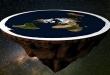 Teorías terraplanistas aseguran que la Tierra está rodeada de una pared de hielo. Foto: ilustración.
