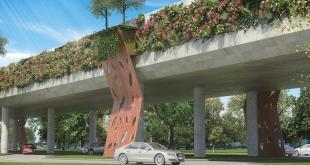Este sería uno de los viaductos del Corredor Botánico.