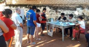 Socios del Club Coronel Martínez de la ciudad de Villa Elisa participaron de la elección de sus autoridades.