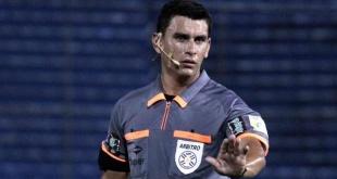 El árbitro Marcos Galeano será el encargado de dirigir el juego de Olimpia y Sol de América. (Foto APF).