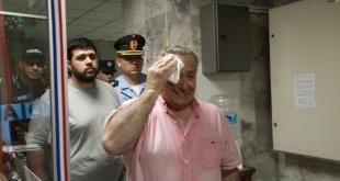 El día en que Oscar González Daher, exsenador, era conducido a la Agrupación Especializada, donde guarda reclusión.