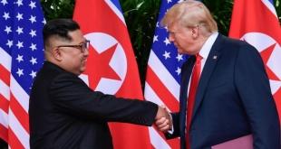 Kim Jong-un y Donald Trump, durante la cumbre celebrada el año pasado.
