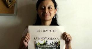 Abogada Julia Cabello, integrante de la Organización Tierraviva y representante convencional de la comunidad indígena.