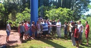 Con aporte comunal del distrito de Vaquería, pobladores de 2da. Línea – Candelaria son beneficiados con el suministro de agua potable.