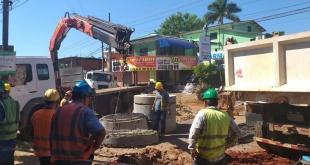 Continúan los trabajos de rehabilitación de 56 km de la red de Alcantarillado Sanitario de la capital.