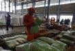 Alimentos almacenados en un centro de acopio en Cúcuta, Colombia.