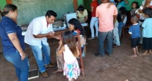 """En total, unas 225 personas, miembros de 54 familias indígenas de """"Ypeti Narai"""", Aba'i, accedieron a los servicios de Salud Pública."""