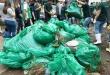 La jornada de limpieza del emblemático cauce capitalino, fue un puntapié inicial para lo que será la gran campaña nacional de Residuos Sólidos. Foto: MADES.