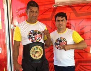 Nicasio Moray y Anastasio Benítez, dirigentes de Asobop-py. (FOTO: Gentileza)