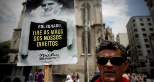 Centrales sindicales se movilizaron contra la reforma de pensiones en Brasil.