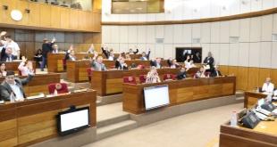 La mayoría de los senadores rechazó este jueves el pedido de desafuero de la parlamentaria Desirée Masi. Foto: @SenadoresPy.