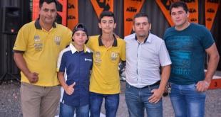 Carlos Ríos, Gilder Martínez, Bryan Vázquez, Facundo  y Cristian Vázquez.