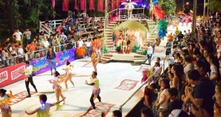 Con un gran despliegue de batucadas y bailarines, arrancó la primera noche del carnaval guaireño en la capital departamental.