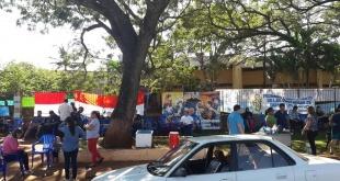 Las protestas iniciaron la semana anterior con cierres intermitentes de la Ruta Internacional N° 7 y ante la falta de respuesta decidieron tomar la institución. Foto: Colegio Técnico Salesiano María Auxiliadora.