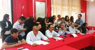 Conferencia de prensa de los principales exponentes de HC.