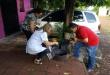 """Los funcionarios recorrieron casa por casa en el barrio """"Santa Ana"""" para concienciar sobre la prevención de Dengue, Zika y Chikungunya."""