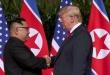 El presidente Donald Trump junto a Kim Jong Un.