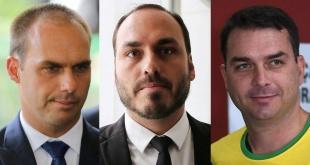 Eduardo, Carlos y Flávio Bolsonaro, mantienen un poder paralelo en Brasil.