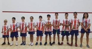 Selección Paraguaya de Squash que nos representará en el Sudamericano Juvenil de Cochabamba.