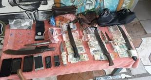 En la casa allanada, los intervinientes encontraron varias evidencias. Foto: Gentileza.