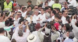 Desde Venezuela, Juan Guaidó cruzó la frontera hacia Colombia para asistir al festival de música. Foto: CNN.