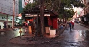 Lugar donde ocurrió el incendio. Foto: Gentileza.