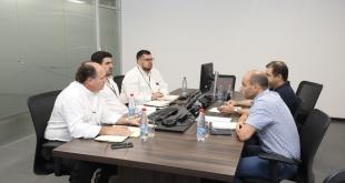 Representantes de la Itaipú Binacional y de la Administración Nacional de Electricidad (ANDE) revisaron los avances del proyecto.