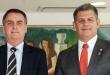 El presidente de Brasil, Jair Bolsonaro, y Gustavo Bebianno, secretario general de la Presidencia.
