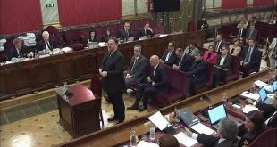 Oriol Junqueras, fue el primero de los 12 acusados en declarar en el juicio que se realiza en el Tribunal de España.