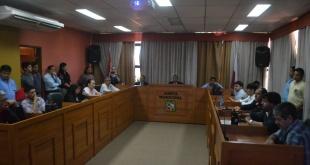Aspecto de una sesión de la Junta Municipal de San Lorenzo. Foto: @MunicSanlorenzo.
