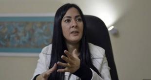 Karina Gómez,  quien renunció como ministra de la Senabico.