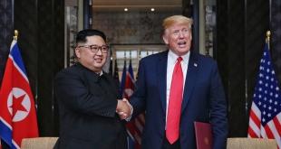 El presidente estadounidense, Donald Trump, y su homólogo coreano Kim Jong Un.