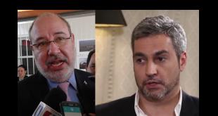 """Justo """"Lucho"""" Zacarías, diputado. Mario Abdo Benítez, presidente de la República."""