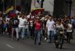 Un grupo de manifestantes venezolanos.