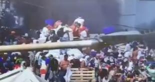 Varios ciudadanos venezolanos fueron reprimidos por los militares. Foto: @jguaido.Varios ciudadanos venezolanos fueron reprimidos por los militares. Foto: @jguaido.