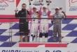 Joshua Duerksen (centro) subió al podio obteniendo su cuarto triunfo en la Fórmula 4.