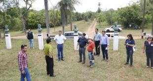 Durante la verificación del Parque Nacional Cerro Corá.