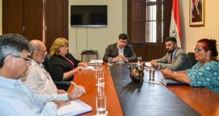 Reunión realizada en la sede de la Secretaría Nacional de Cultura (SNC).
